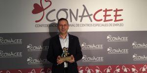 Premio de la Confederación Nacional de Centros Especiales de Empleo (CONACEE) a Urbegi por su apuesta por la innovación y la internacionalización  (Nov.2018)